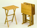 TV Tray Tables Vintage Woodworking Plan