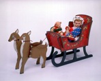 Christmas Reindeer and Sleigh Vintage Woodworking Plan