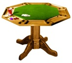 Poker Gaming Table Vintage Woodworking Plan
