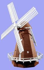 R14-216 - Dutch Windmill Vintage Woodworking Plan