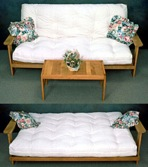 Futon Sofa Bed with table Vintage Woodworking Plan Set