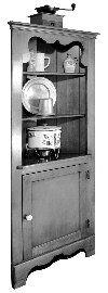 Corner Cupboard Cabinet Vintage Woodworking Plan