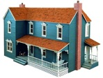 Farmhouse Dollhouse Vintage Woodworking Plan.