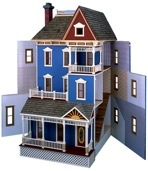 San Francisco Dollhouse Vintage Woodworking Plan