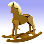R14-3196 - Traditional Rocking Horse Vintage Woodworking Plan.