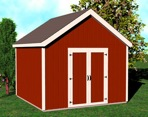 R14-5132 - Shed with Gable Roof Construction Vintage Plan