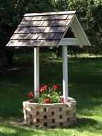 Wishing Well Planter using Bricks and Wood Vintage Plan