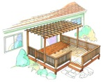 Trellis Deck Construction Vintage Plan