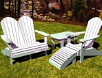R14-7038 - Adirondack Resort Furniture Set of Vintage Woodworking Plans.