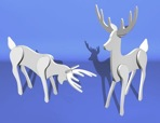 R14-7081 - Graceful Lawn Reindeer Vintage Woodworking Plan.