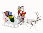 R14-7140 - Santa, Sleigh and Reindeer Vintage Woodworking Plan Set.