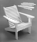 R14-738 - Folding Contoured Lawn Chair Vintage Woodworking Plan