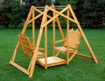 Lawn Glider 2 Seater Vintage Woodworking Plan.