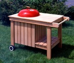 Kettle Grill Caddy Barbeque Vintage Woodworking Plan.