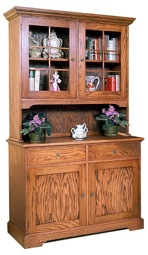Hutch and Bookcase Vintage Woodworking Plan